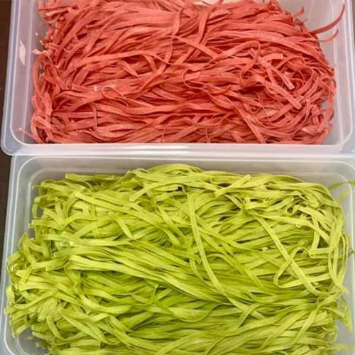 Pasta comes in many colours and shapes